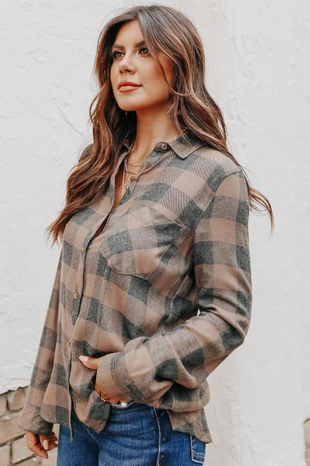 Breckenridge Mocha/Charcoal Plaid Shirt
