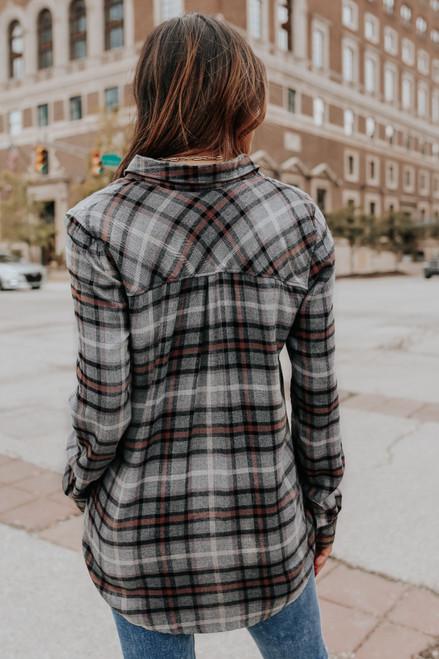 Lumineer Slate Plaid Pocket Shirt