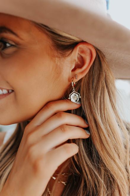 Starburst Gold Dangle Earrings