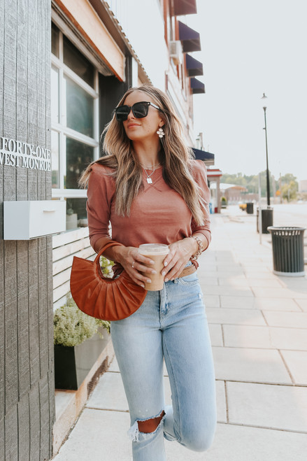 Free People Clover Terracotta Top