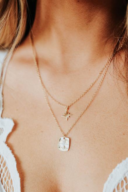 Star Gazer Layered Gold Necklace