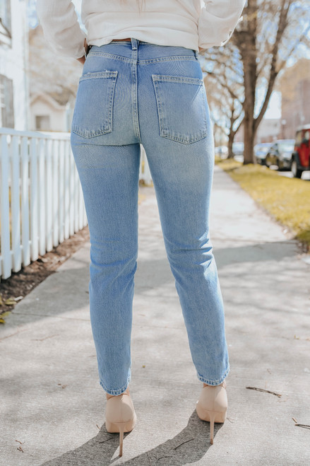 Free People Stovepipe Mid Indigo Jeans