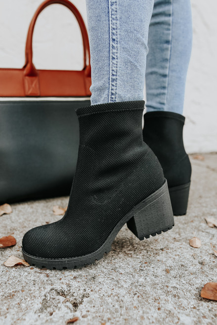 Dirty Laundry Lizzie Black Booties