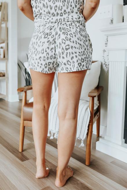 Drawstring Leopard Lounge Shorts
