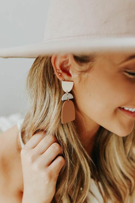 Dot Geometric Earrings