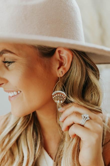 Amara Beaded Dangle Earrings