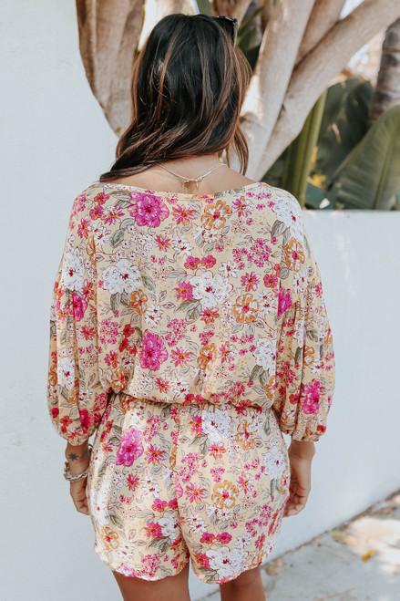 Sweet Sunshine Button Detail Floral Top