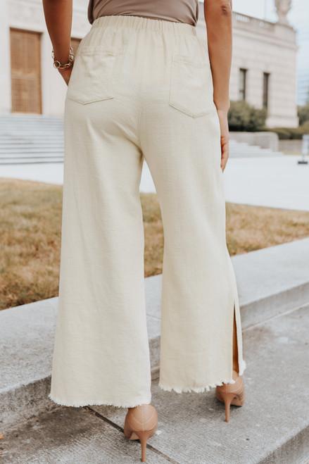 Just the Beginning Natural Frayed Pants