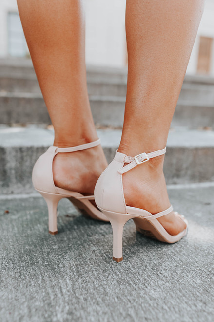 All Your Love Nude Strappy Heels