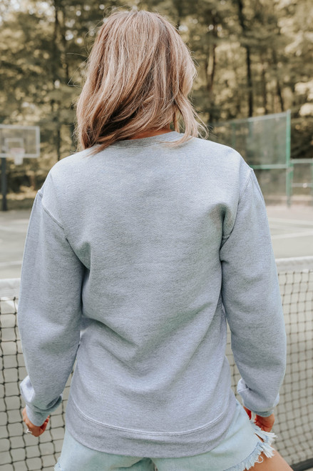 USA Grey Crew Sweatshirt