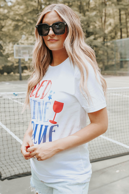 Red, Wine, & Blue Graphic Tee