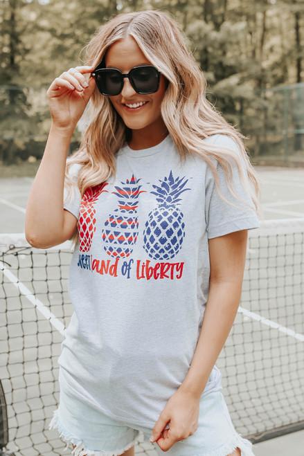 Sweet Land of Liberty Pineapple Graphic Tee