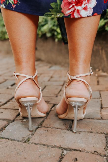 Romantic Road Nude Strappy Heels