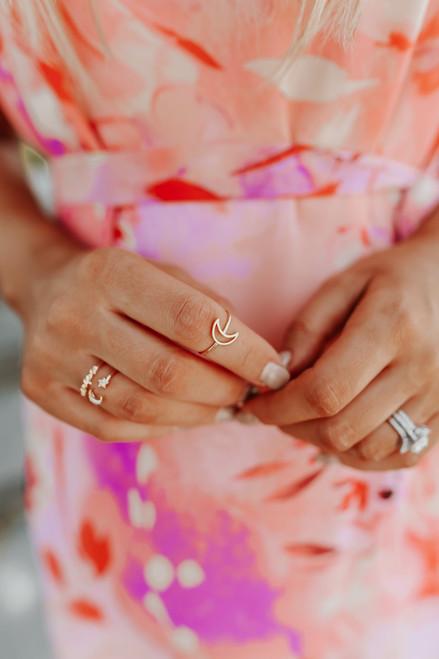 Half Moon Gold Ring