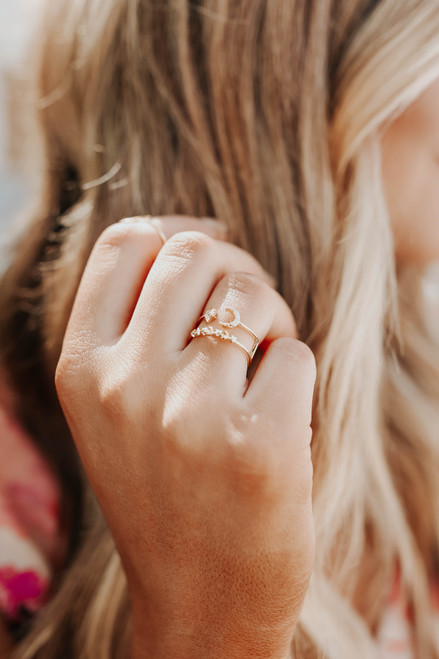 Celestial Gold Double Band Ring