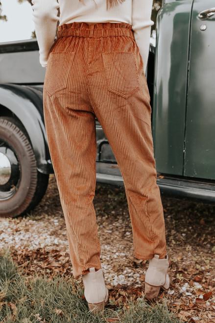 Reeve Caramel Corduroy Paperbag Pants