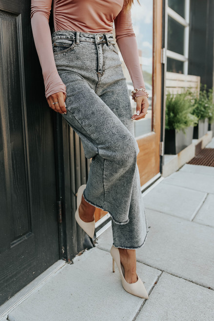 Motley Vintage Black Wide Leg Jeans