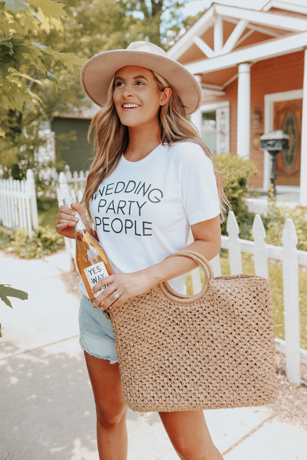 Wedding Party People White Graphic Tee