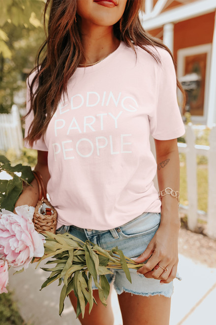 Wedding Party People Blush Graphic Tee