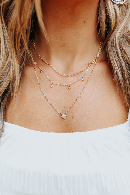 Stardust Layered Gold Necklace