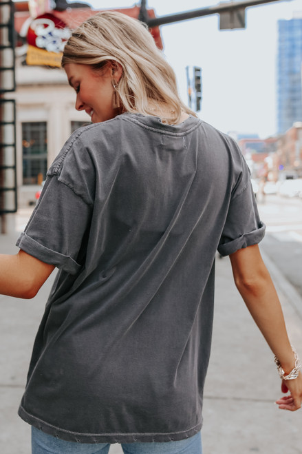 Grand Canyon Black Distressed Graphic Tee