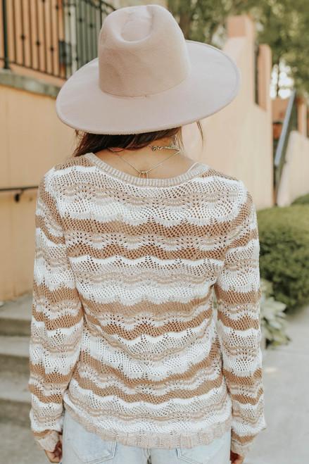 Ferndelle Printed Pointelle Sweater