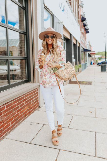 Layla Mixed Print Floral Top