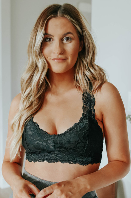 All About Love Black Sweetheart Lace Bralette
