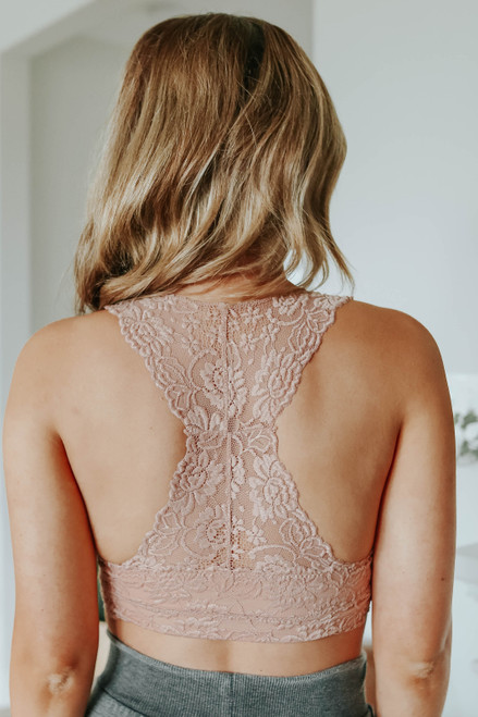 All About Love Rose Sweetheart Lace Bralette