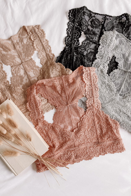 All About Love Sweetheart Lace Bralette