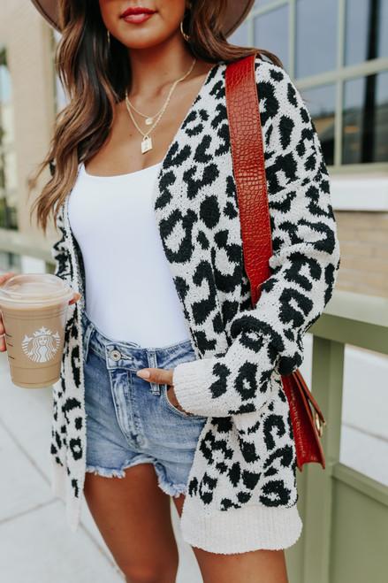 Cozy Company Leopard Pocket Cardigan