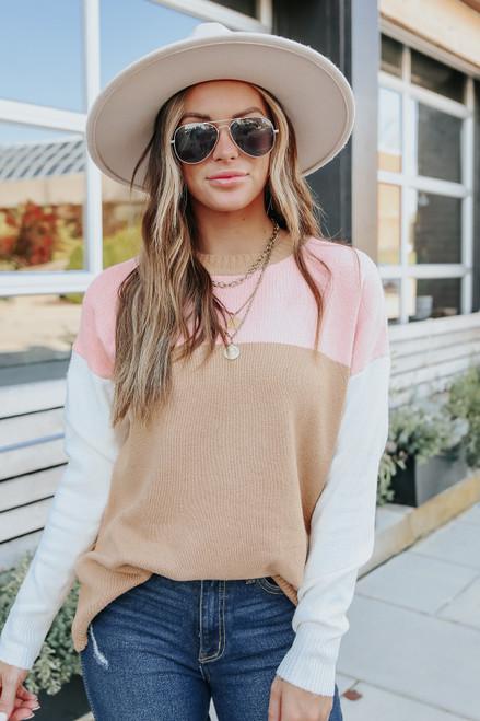 Love So Sweet Colorblock Sweater