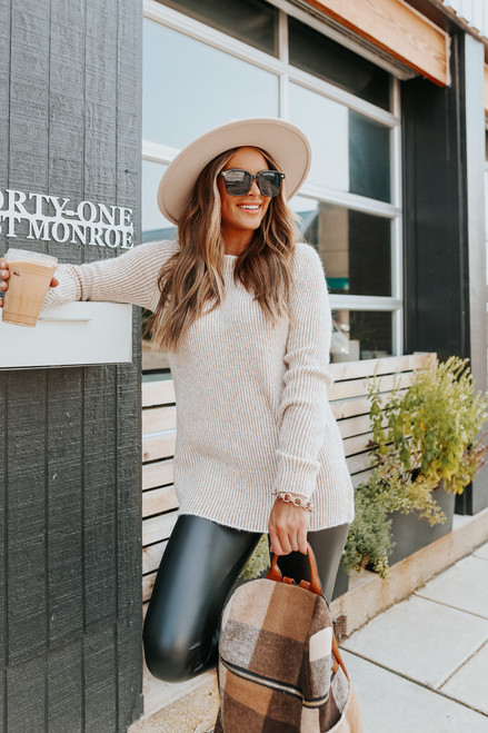 Willow Trail Two Tone Ribbed Sweater