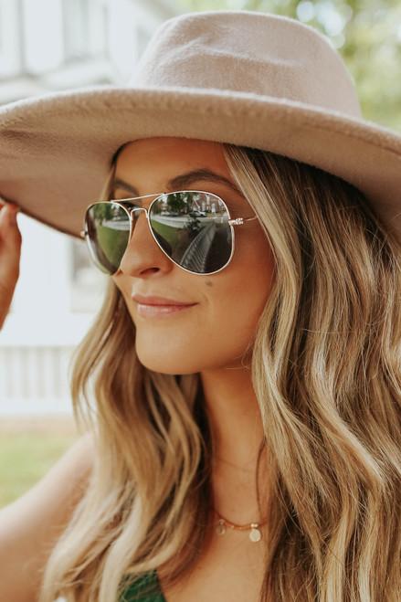 Take Off Black Aviator Sunglasses