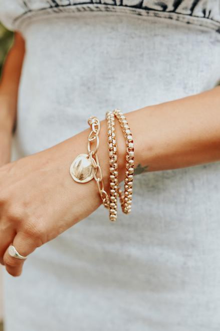 Talia Gold Coin Multi Bracelet
