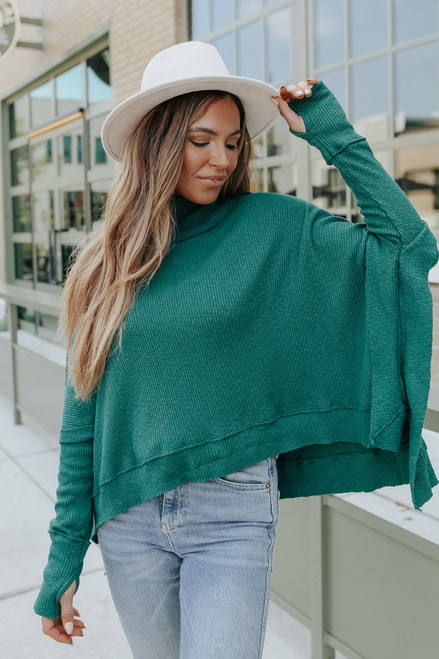 Free People Moon Daisy Everglade Pullover