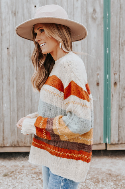 Mountain Overlook Multi Stripe Sweater
