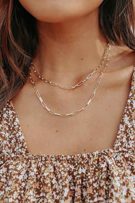 Link to Link Gold Layered Necklace