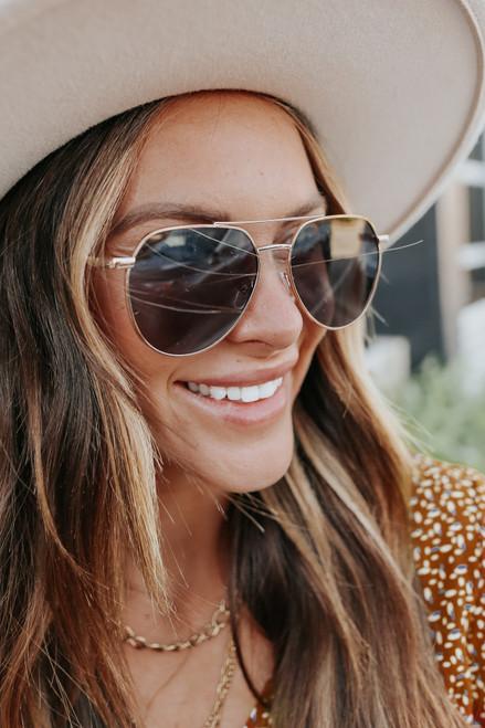 Starstruck Gold Aviator Sunglasses