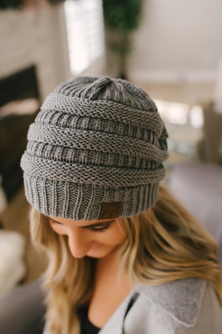 Knit Beanie - Dark Grey - FINAL SALE