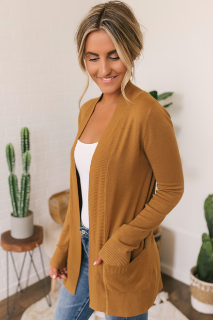 Down By The Bay Knit Cardigan - Camel