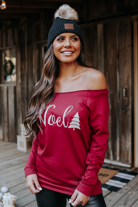 Off the Shoulder Noel Pullover