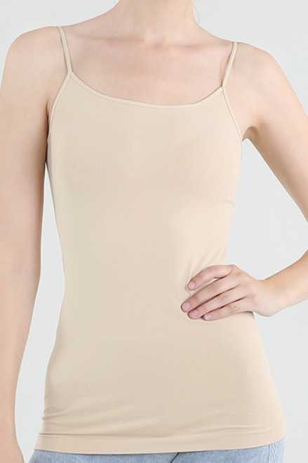 Nikibiki Long Basic Cami- Nude
