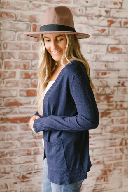 Down By The Bay Knit Cardigan - Navy  - FINAL SALE