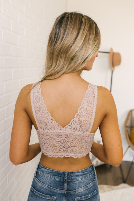 Padded Lace Bralette - Nude