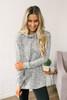 Marbled Drawstring Hoodie - Heather Grey - FINAL SALE
