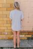 Cutout Detail Twisted Hem Melange Top - Heather Grey