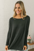 Solid Knit Piko - Black - FINAL SALE