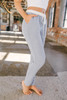 Cozy Cuddles Soft Brushed Joggers - Blue/Ivory - FINAL SALE