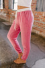 Cozy Cuddles Soft Brushed Joggers - Cherry Pink/Ivory